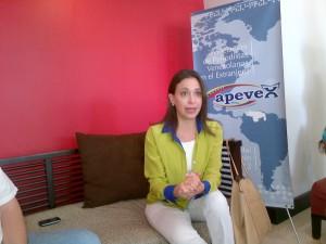 María Corina Machado diserta sobre la situación de Venezuela.