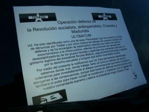 Amenaza a periodistas venezolanos