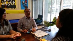 Eduardo Orozco, dos veces presidente del Colegio Nacional de Periodistas de Venezuela, habla con APEVEX. Foto: Sonia Osorio