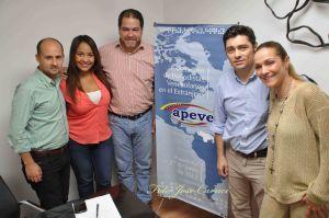Dirigentes de Voluntad Popular de izq. a der.: Lawrence Castro, Yoslin Sánchez, Luis Florido, Carlos Vecchio y Fabiola Colmenarez.